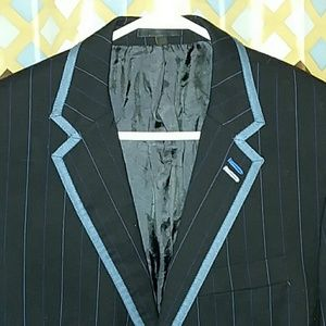 🇬🇧Ben Sherman⭐Black/Blue pinstriped Blazer Small